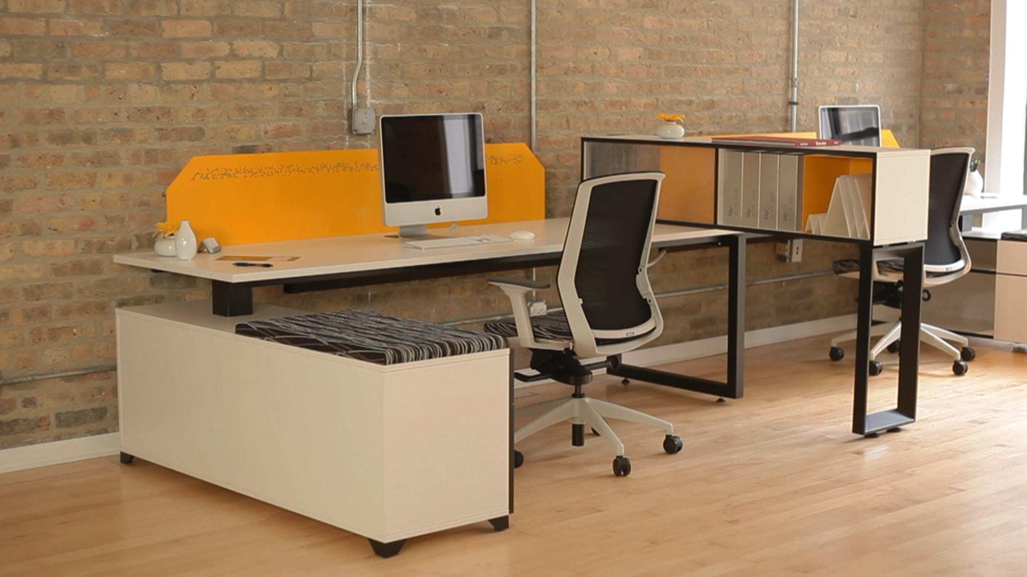 banner new houston and chicago center workstation office used furniture