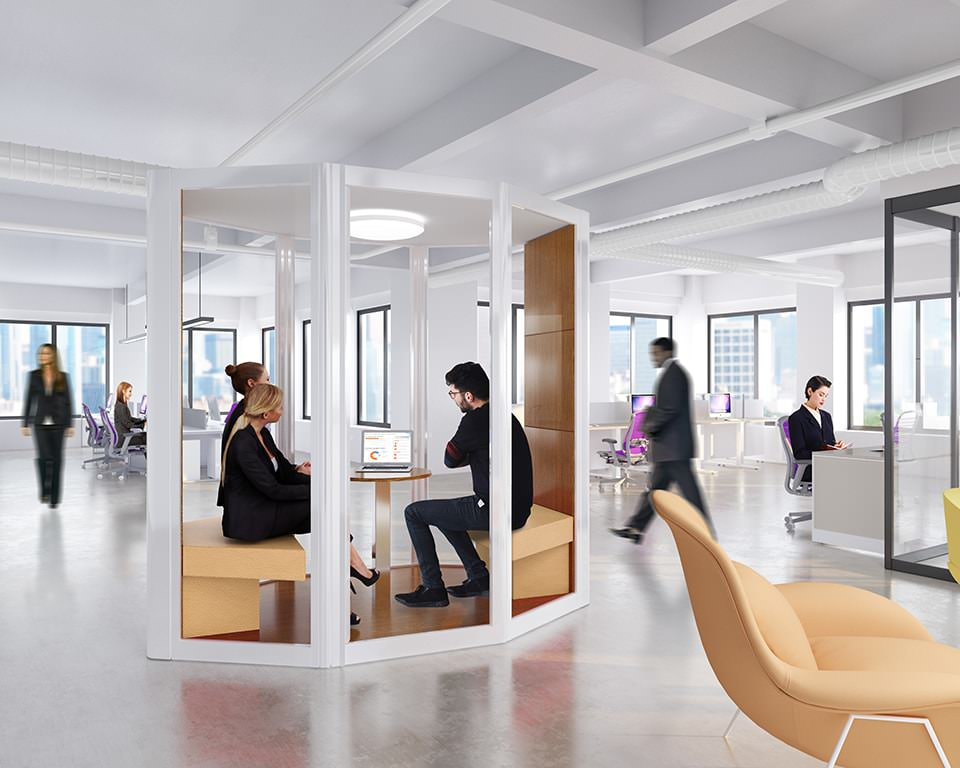 Freestanding privacy and meeting rooms for the open office plan 9