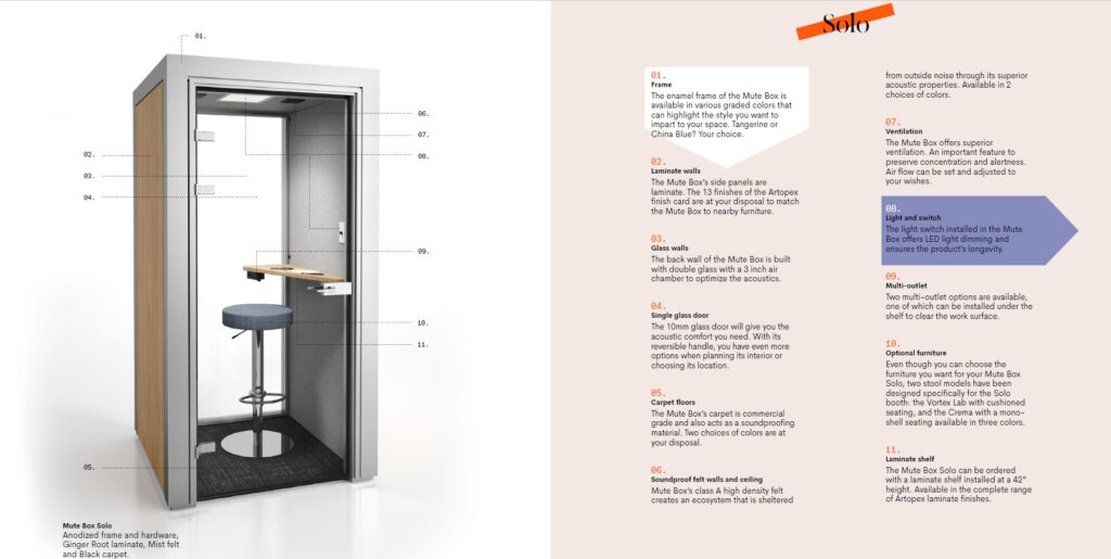 Single Occupancy Phone Privacy Booth