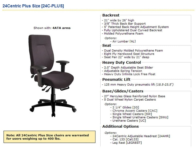 Plus Size Bariatric Chairs Office Furniture Halifax Nova
